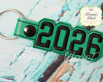 2026 SNAP Key Fob In The Hoop - DIGITAL Embroidery DESIGN