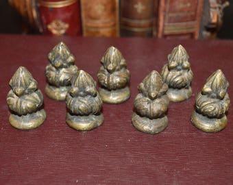 Antique Bronze Petite Finial Hardware Repurpose