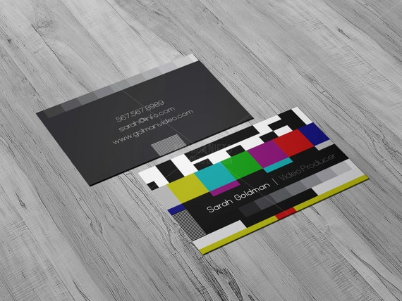 Youtube video producer business cards social media animator il570xn reheart Image collections