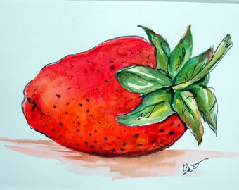 STRAWBERRY - Original Watercolor