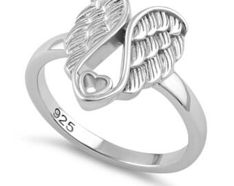Sterling silver Angel wings Ring