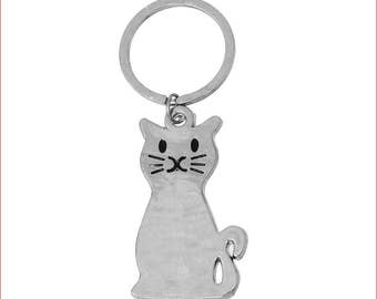 Sale - Cat Keychain - Fur Baby - Bargin Bin - Kitty - Kitten - Ready To Ship - Gift Idea - Cat Key Chain
