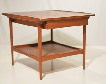 Teak Side Table with Drawer for Moreddi