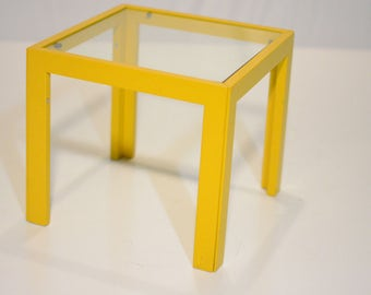 Carl Hansen Yellow Glass Top Table