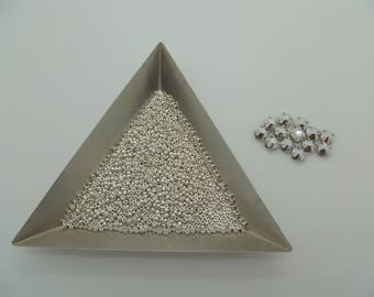 Set of Sew on Crystals and Sz15 Silver Plated Rocaille Seed Bead for Marcy's Bracelet pattern