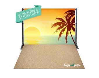 Summer Vibes & Sand – Photography Backdrop Combo