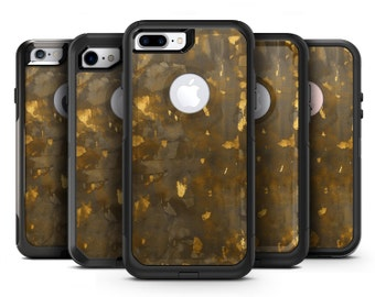 Abstract Dark Gray and Golden Specks - OtterBox Case Skin-Kit for the iPhone, Galaxy & More