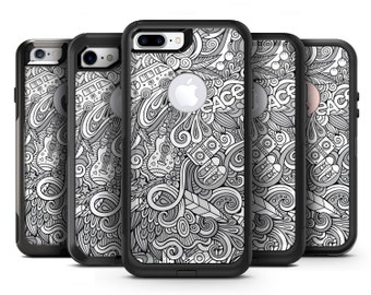 Hippie Dippie Doodles - OtterBox Case Skin-Kit for the iPhone, Galaxy & More