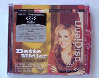 Bette Midler Sings the Peggy Lee Songbook- Dual Disc CD-DVD Sealed  New CD-Side