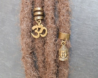 Pearl for Dreadlocks Buddha Aum / jewelry a dread ethnic ohm / Hippie / brass / Zen