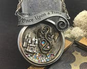 Once upon a time  Steampunk necklace Handcrafted artistic jewelry -The Victorian Magpie