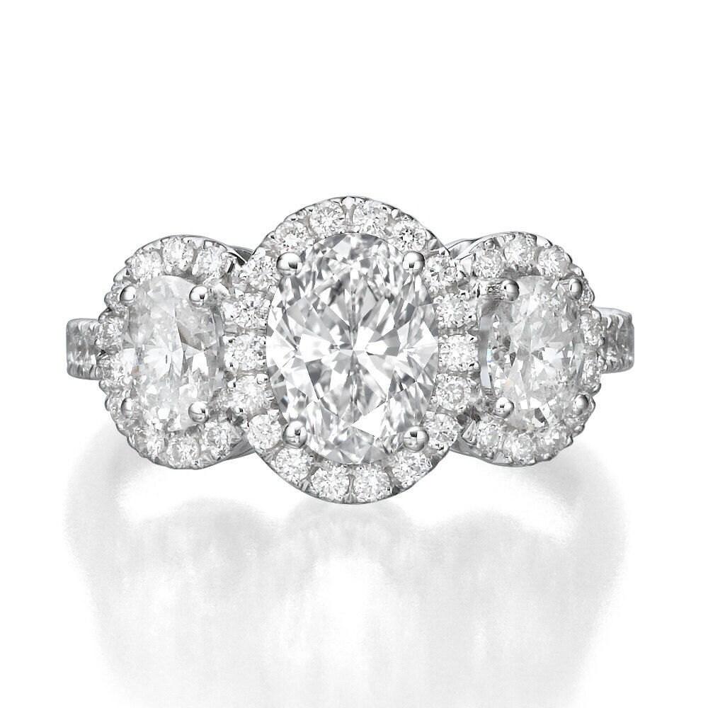 oval engagement ring 3 stone vintage diamond ring carat. Black Bedroom Furniture Sets. Home Design Ideas
