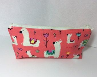 Alpaca pencil pouch/ Makeup bag