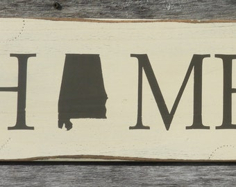 State Home or Love Distressed Wood Sign - Show Your State Pride!
