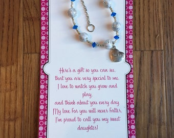 Daughter present-daughter gift-stocking stuffer-daughter bracelet-daughter-family jewelry