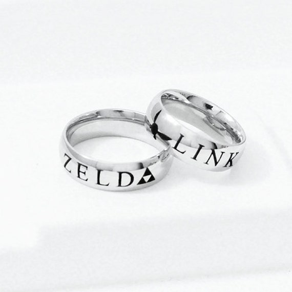 Link and Zelda Couple Ring Personalized Ring Couples Ring