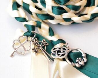 4 Charm Celtic  Wedding Handfasting V2 ~ Wedding Ceremony ~ Handfasting ~ Celtic Wedding ~ Divinity Braid ~ Claddagh ~  Wedding Ceremony