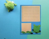 Notepad To Do List Frog | A6 stationary