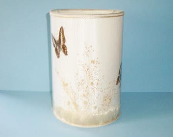 Van Briggle Butterfly Lamp Shade With Grasses 10 Inches Tall Vintage Lamp Shade Only No Lamp