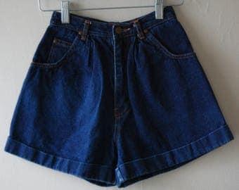 Super 80's Short Shorts // Tres Jolie Denim Shorts // Cuffed Shorts // Size 3/4 // XS