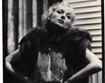 "Carole Lombard Original Hollywood Glamour Photo Paramount Studios, Vintage Authentic Movie Memorabilia, Collectible Celebrity Photo 8""x10"""