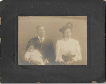 Vintage Black Americana Cabinet Photograph YoungFamily