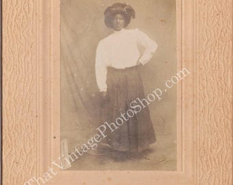 I will not fade away,  African American cabinet photo
