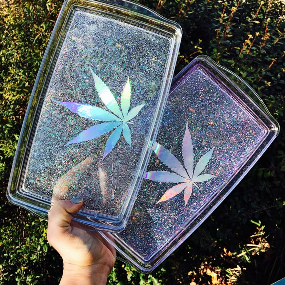 Crystal Clear Rolling Tray Rolling Tray Vanity Tray