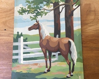 Paint By Number Art - Horse Painting