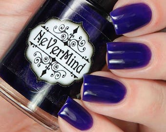 Purple Jelly Polish - Shear Purple Nail Polish - Spring Collection - Full Size Bottle / Purple Plasma