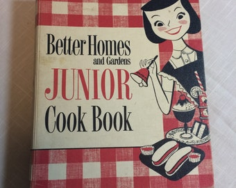 First Edition 1955 Better Homes and Gardens Junior Cook Book - Hardcover Children's Cook Book