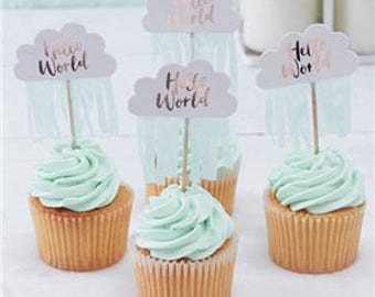 baby shower cupcake picks - Decorating Baby Shower Cupcakes