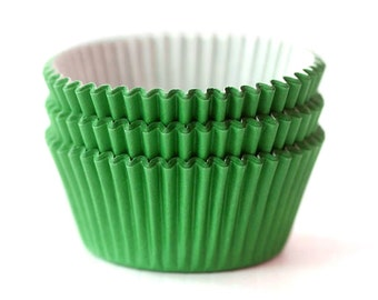 Solid Green Cupcake Liners