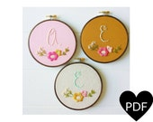 Embroidery Pattern, PDF Pattern, Monogram Hand Embroidery Pattern, Instant Download PDF, Printable Stitching Pattern