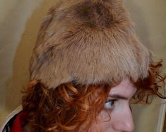 Light Brown Rabbit Fur Hat