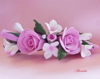 Flower Hair Clip Floral Headpiece Hair Flower Clip Floral Wedding Hair accessories