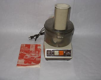 Vintage GE food processor with original manual 1 quart bowl