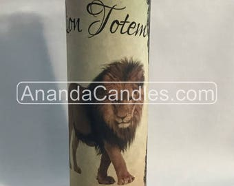 Hoodoo Voodoo Lion Totem Fixed 7 Day Candle Witchcraft