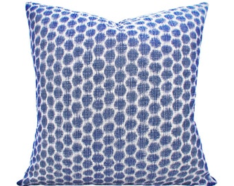 Kravet Ikat Geometric Decorative Pillow Cover - Throw Pillow - Both Sides - 12x16, 12x20, 14x18, 14x24, 16x16, 18x18, 20x20, 22x22