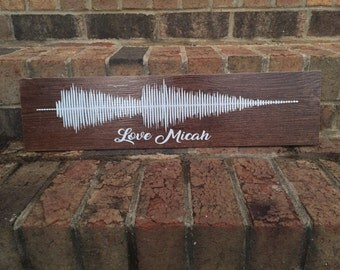 voice art or name faux wood tile keepsake