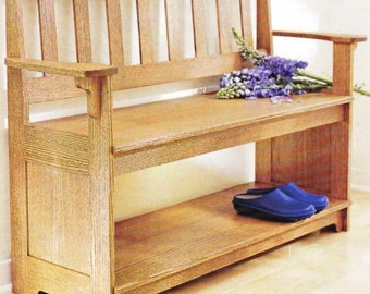 Sit A Spell Hall Bench Woodworking Plans