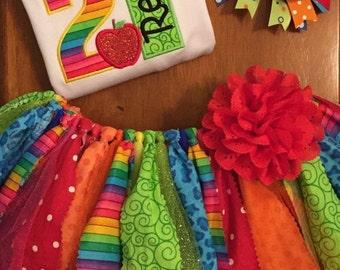 Love 2 Read Back to School Scrap Fabric Tutu Outfit