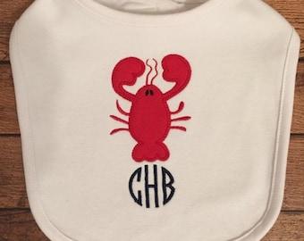 Monogrammed Lobster Bib