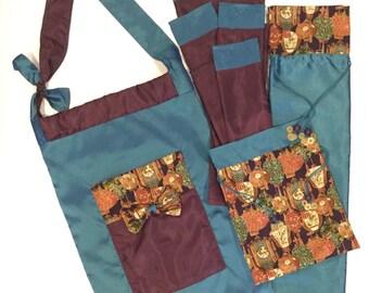 Mahjong Tote Bag ~ Standard Rack Bag & Sleeves ~ Tile Bag ~ Mah Jongg