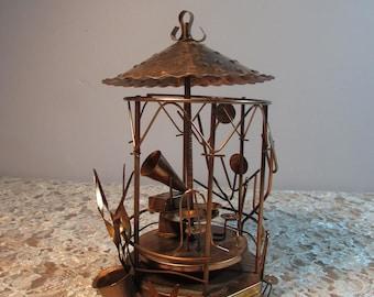 Copper Art Musical Rotating Gazebo Music Box – Plays Tea for Two