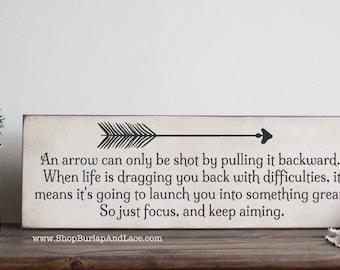 Arrow Quotes Life Impressive Arrow Quote  Etsy