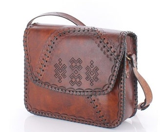 Genuine Leather Handmade Bag  pucka/cattle leather