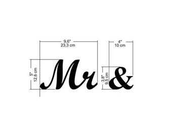 EXPRESS - 5 inches tall - Mr & - Gold glitter
