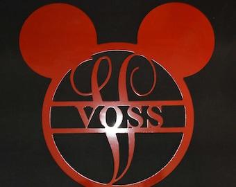 Disney Monogram Metal Sign / Disney Wedding Gift / Personalized Disney Monogram Sign/Personalized Monogram Sign. / Monogrammed Gift