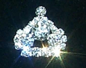Style # 11892 Rhinestone Crown Pin